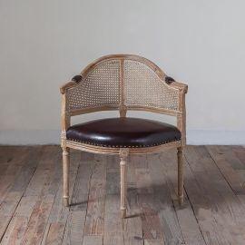 胡桃里音乐餐厅繁花酒吧餐椅 美式复古做旧编藤靠背休闲餐椅