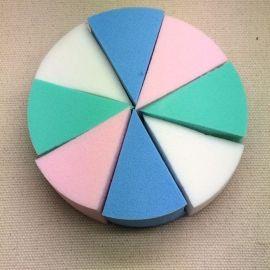 粉撲 圓形8切 親水性非乳膠 乳膠粉撲 圓6切粉撲組合 多色可選