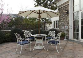 供应 户外庭院铸铝桌 一桌四椅 铸铝长桌椅