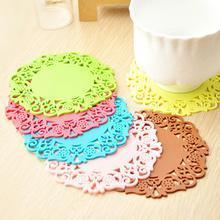 维叶创意环保硅胶杯垫