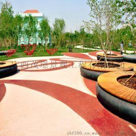 彩色透水混凝土适用海绵城市路面材料厂家直销质量保证