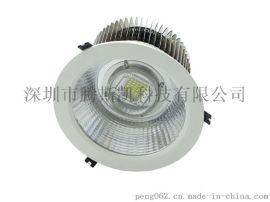 8寸嵌入式COB筒灯大功率100W圆形筒灯