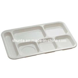 堂校专用分格盘美耐皿六格餐盘(密胺/科学瓷)
