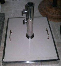 方形不锈钢伞座AC-CB25(陶瓷面,水泥浇筑)