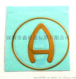 深圳厂家直供电铸标牌,超薄镍标,金属标贴,分体自粘金属贴字