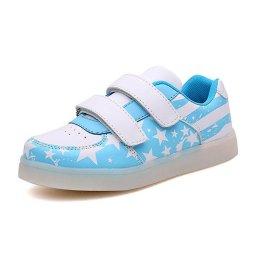 新款儿童发光鞋 男童女童led带灯童鞋七彩闪光亮灯鞋