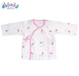 品牌廠家嬰幼兒全棉雙層紗布長袖和短袍透氣易洗易幹新生兒內衣