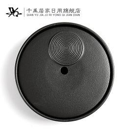德化陶瓷圆型干泡茶盘 日用家居陶瓷茶盘 厂家直销陶瓷茶具
