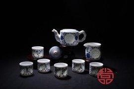 高档手绘山水陶瓷茶具价格