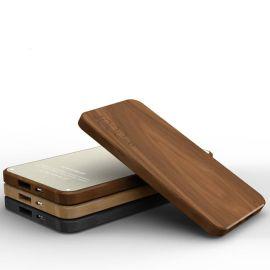 厂家大量供应木制移动电源 4000毫安桃木充电宝定制
