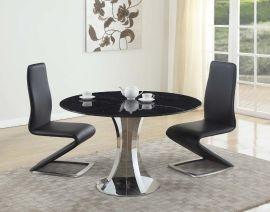 大理石不锈钢餐桌F8132
