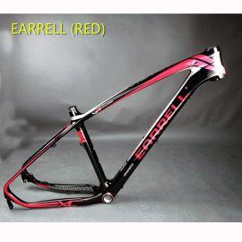 2017 EARRELL 碳纤维车架山地自行车MTB自行车配件车架小轮车车架29帧帧T800碳26 / 27.5/29mm
