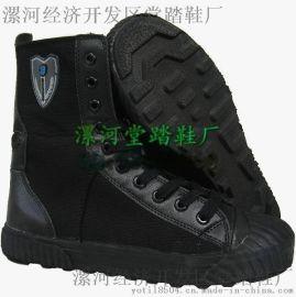 SWAT帆布作战靴夏季黑色作训靴透气保安执勤鞋