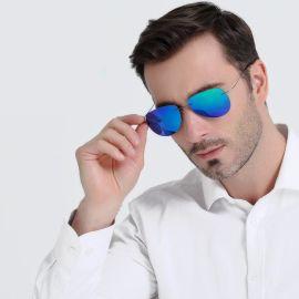 厂家直销 新款欧美太阳镜 时尚超弹无框蛤蟆镜 男女士通用墨镜