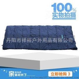 棉布直線有紐扣睡袋藍色 賓館隔髒旅行睡袋 廠家專業生產制造睡袋