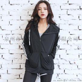 韩版速干秋冬季运动休闲外套女士健身房跑步健身服高弹显瘦瑜伽服