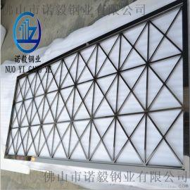 304镀色黑钛不锈钢屏风|拉丝镜面黑钛屏风定做