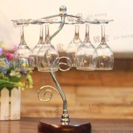 酒杯架 時尚創意藤蔓造型鐵藝置地杯架 家居飾品廠家批發