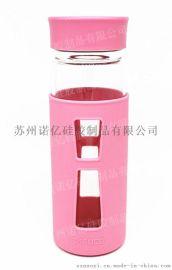 諾億玻璃保溫杯硅膠隔熱杯套