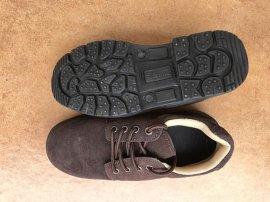 深棕色一级反绒牛皮耐磨防砸耐油耐酸碱耐高温工作鞋劳保鞋防护鞋