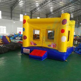 厂家直销新款淘气堡儿童乐园游艺设施充气跳床城堡方形滑梯室内