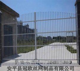 定做铁艺门 锌钢栅栏门 锌钢大门 欧式大门