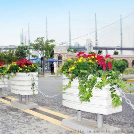 城市交通护栏,道路隔断,铝合金花箱市政隔离栏杆