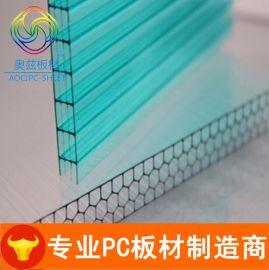 8mm毫米厚双层中空透明PC阳光板生产厂家