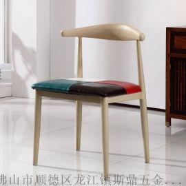 斯鼎牛角椅厂家批发新时尚复古美式乡村酒店饭店家用餐椅