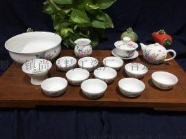 景德镇高档手绘茶具价格 商务礼品茶具图片