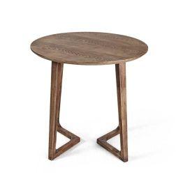 北欧实木创意圆桌小户型客厅边几角几休闲茶桌咖啡厅小圆桌TC006