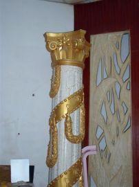 罗马柱-树脂罗马柱定做-园林玻璃钢彩绘罗马柱雕塑厂