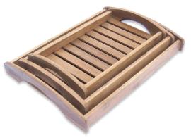 竹木托盘长方形竹制茶盘 大小号功夫茶具实木托盘 现货竹盘上菜盘