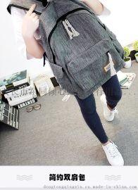 定制批发简约双肩包男女韩版中学生书包大容量定做旅行背包学院风电脑包休闲包