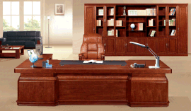 高级办公家具大班台老板桌红棕色可定制