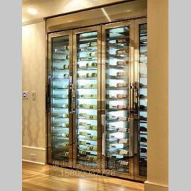 酒店玫瑰金不锈钢酒架 质量稳定 美观持久 且耐氧化 耐腐蚀