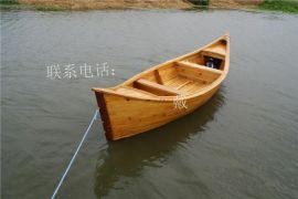 裝飾木船歐式木船手劃船觀光木船仿古裝飾模型手工木船