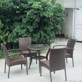 简约休闲藤椅5件套阳台桌椅茶几户外室内庭院仿藤椅子五件套组合