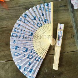FD-1612266厂家大量生产仿真丝竹扇批发可按要求定制广告仿真丝竹扇