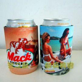 潛水料連底杯套直銷廠家 易拉罐粘底保護套飲料可印LOGO促銷品