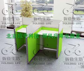 应中科技YZ-PFSJ01升降屏风电脑桌机考卡座屏风升降桌
