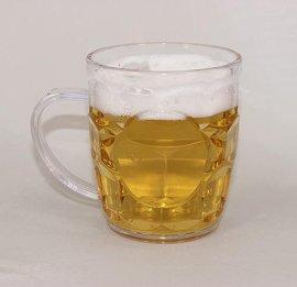 260ml透明 水杯 啤酒杯 馬克杯 塑料杯