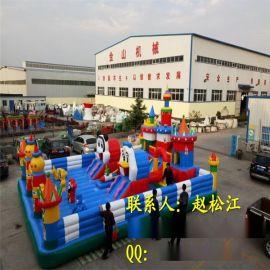 廣場兒童遊樂設備js-cq17充氣城堡材質做工