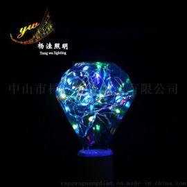 楊窪yw-pzqp001 平鑽銅線星星燈彩泡球泡