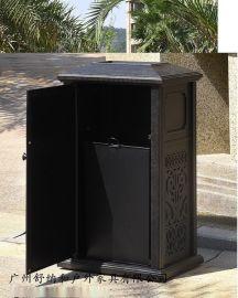 温泉度假村户外仿古垃圾桶