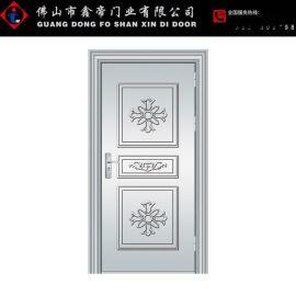 304不鏽鋼門防盜門不鏽鋼大門農村庭院通風門進戶單門玻璃防盜門