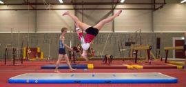 青岛 充气体操垫 inflatable gym mat