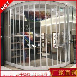 深圳水晶折叠门 透明电动卷帘门商场透视防尘防盗门