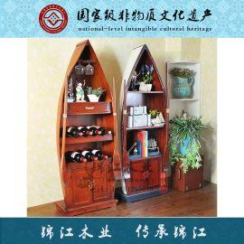 歐式小木船 裝飾木船 工藝品擺件船 酒櫃裝飾船 攝影道具船 定制