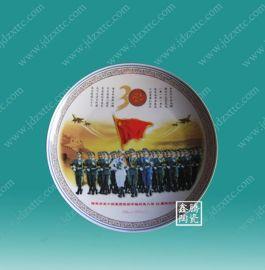 供应景德镇陶瓷纪念盘,庆典礼品瓷盘厂家